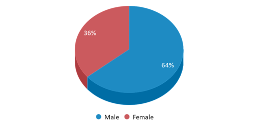 This chart display gender of Studebaker Center