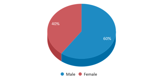 This chart display gender of Wing Lake Developmental Center