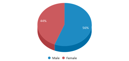 This chart display gender of Cyril B. Busbee Creative Arts Academy
