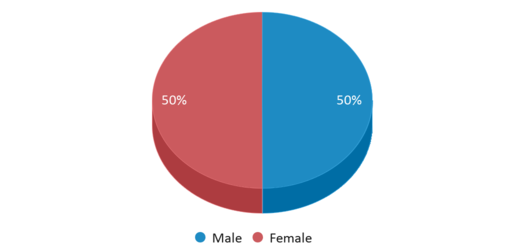 This chart display gender of Thoroughgood Elementary School
