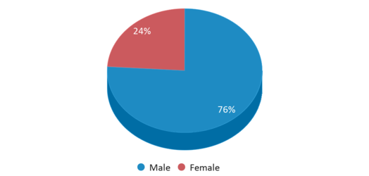 This chart display gender of Haverhill Alternative School