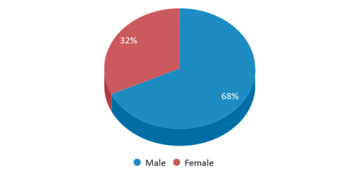 This chart display gender of Giresd Center Programs