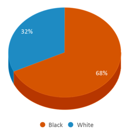 This chart display the percentage breakdown of students of all ethnic groups in Washtenaw County Youth Center Educational Programs.