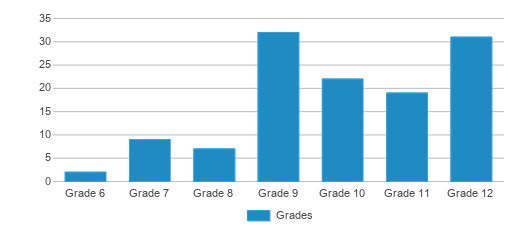 This chart display the students of Mclean Education Center (alternative School) by grade.